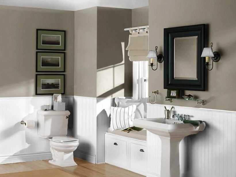 Marvelou Small Bathroom Paint Color Ideas Inside Small Bathrooms Painted Dark Colors  Photo