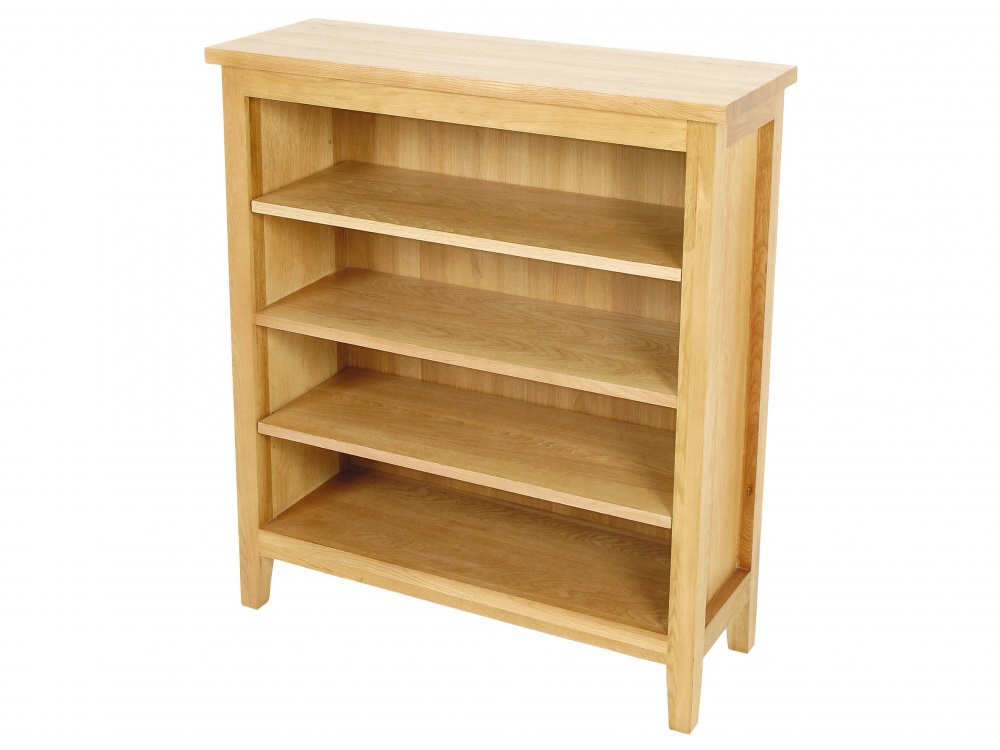 Oregon Solid Oak Low Bookcase Pic