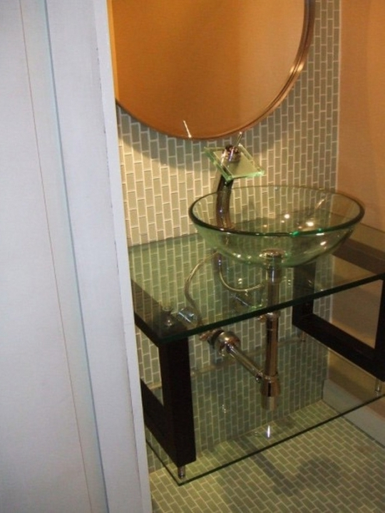 Wonderful Small Powder Room Vanities Glass Ideas Decorating