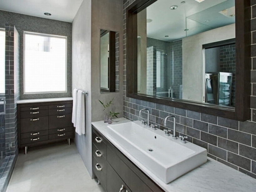 Brilliant Small Bathroom Remodeling Subway Tile Subway Tiles Ideas Decorations Fashionable Grey Subway Tile Bathroom