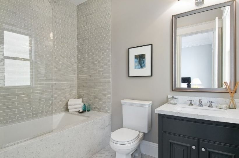 Comfy Small Bathroom Remodeling Subway Tile Simple Bathroom Designs Grey