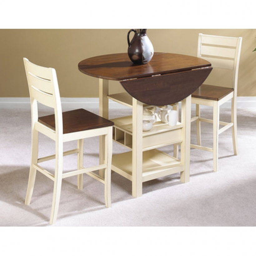 Drop leaf kitchen tables for small spaces small room for Small apartment kitchen table