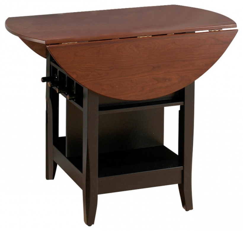 Drop leaf kitchen tables for small spaces with storage for Kitchen table with storage