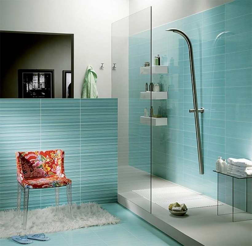 Extraordinary small bathroom remodeling subway tile light small blue bathroom tile ideas floor - Small bathroom remodeling designs ...