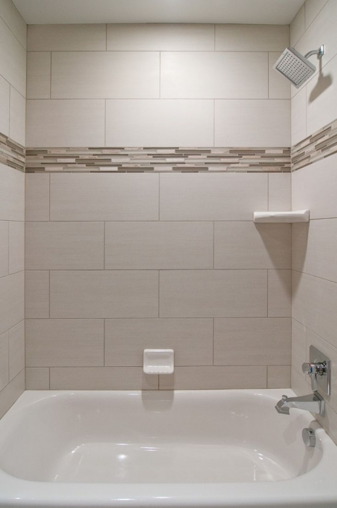 Gorgeous small bathroom remodeling subway tile oversized subway tiles small room decorating ideas - Nice subway tile bathroom designs with tips ...