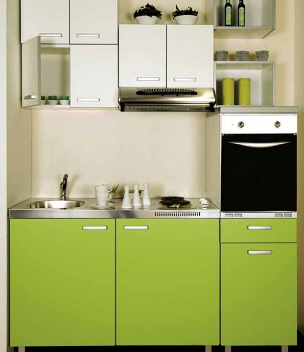 Interior Design Kitchen Small Space Modern Green Colours