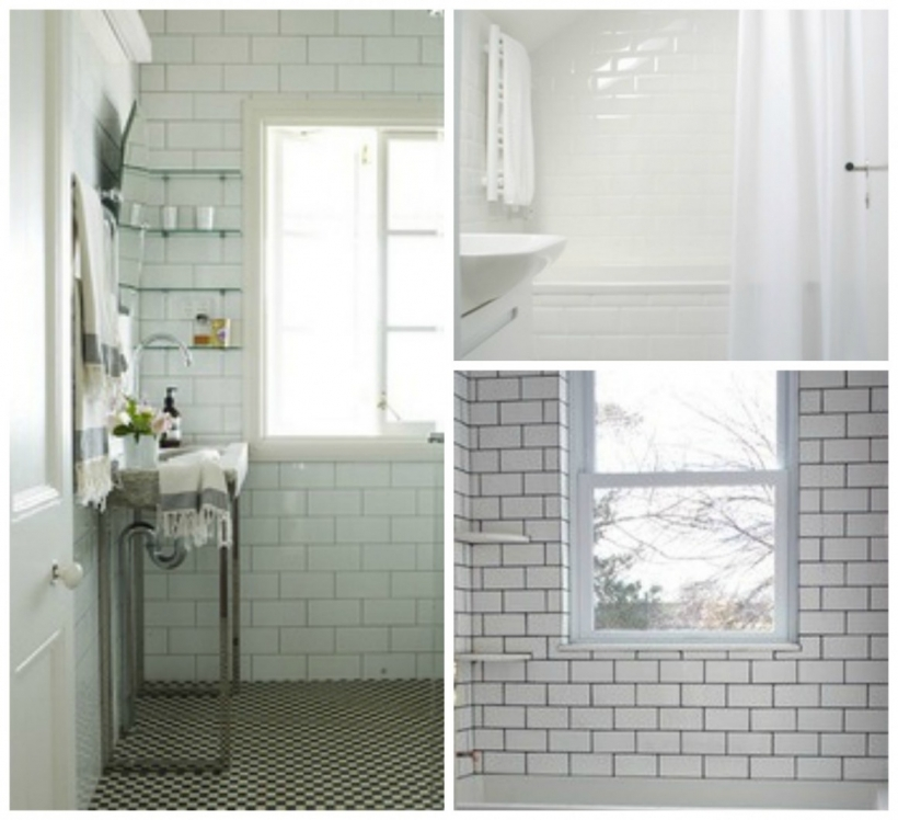 Marvelous Small Bathroom Remodeling Subway Tile Modern Small Bathroom Design Using White Brick Ceramic Subway