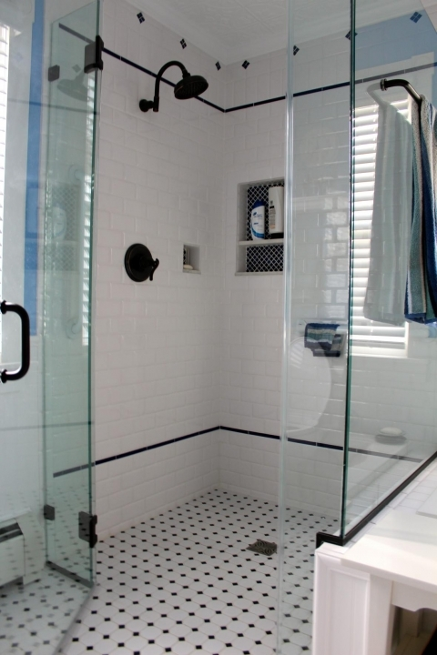 Outstanding Small Bathroom Remodeling Subway Tile Vintage Subway Tile Shower Combined Glass Wall Separated Design
