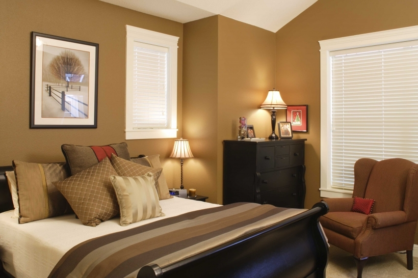 Small Bedroom Paint Color Schemes Very Nice Design With Light Brown