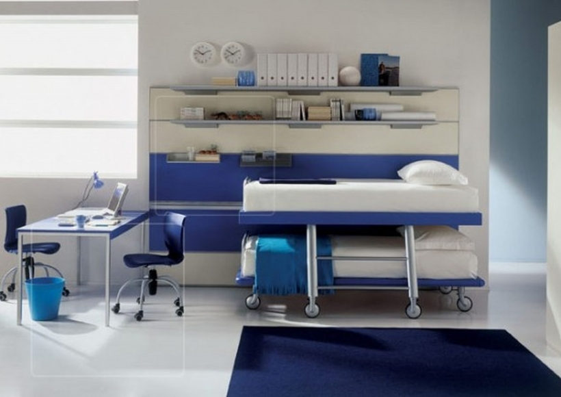 Small Bedroom Paint Color White And Blue Decor