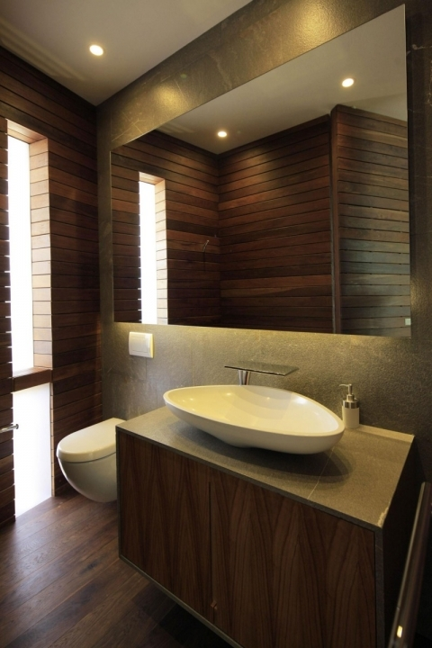 Small Powder Room Decorating Ideas Cosy Contemporary Design Floating Single Vanity Sink White Oval Vessel Sink 772