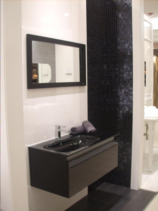Small Powder Room Decorating Ideas Incredible Black Wall Mount And Ceramic Sink Cabinet 879