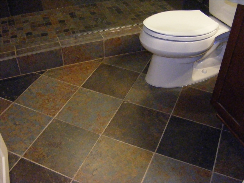 Bathroom Flooring Ideas For Small Bathrooms With Astonishing Slate Tile