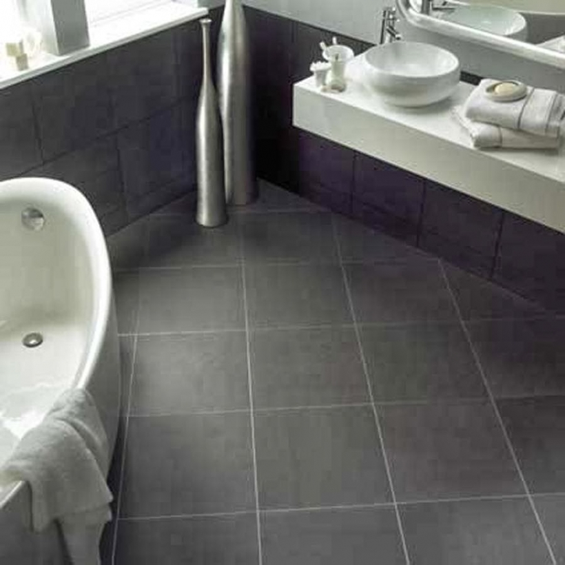 Bathroom flooring ideas for small bathrooms with brilliant for Vinyl floor tiles in bathroom