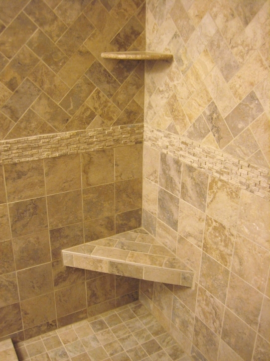 Bathroom Wall Tile Ideas Corner Caddy Bath Over Custom Handmade Triangle Shower Seating For Small Bathrooms