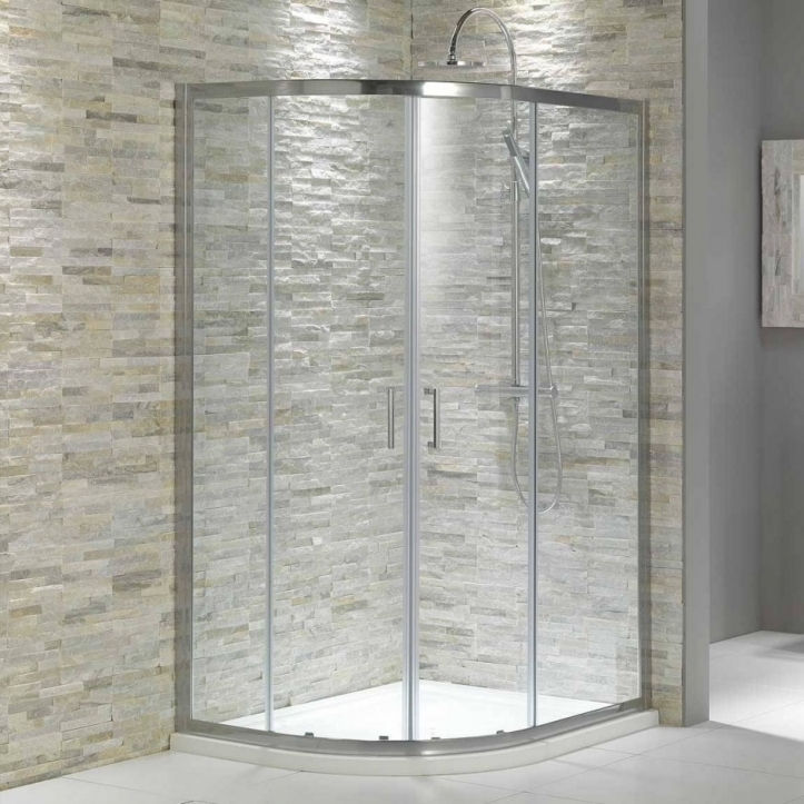 Bathroom Wall Tile Ideas With Corner Glass Shower Room For Small Bathrooms