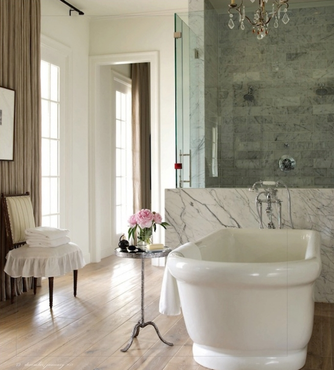 Freestanding Bathtubs Small Spaces Stylish Feminine Beautiful Bathroom Ever Decorated With Oval Freestanding Tub 8213