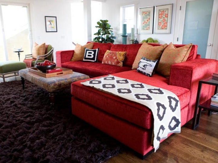Red Sectional Sofa Bed For Small Spaces Inside Marvelous Red Sectional Sofa Decorating Ideas  9180