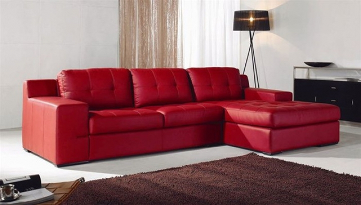 Red sectional sofa bed for small spaces with astonishing minimalist living room decoration ideas - Sectional sofas for small spaces with recliners minimalist ...