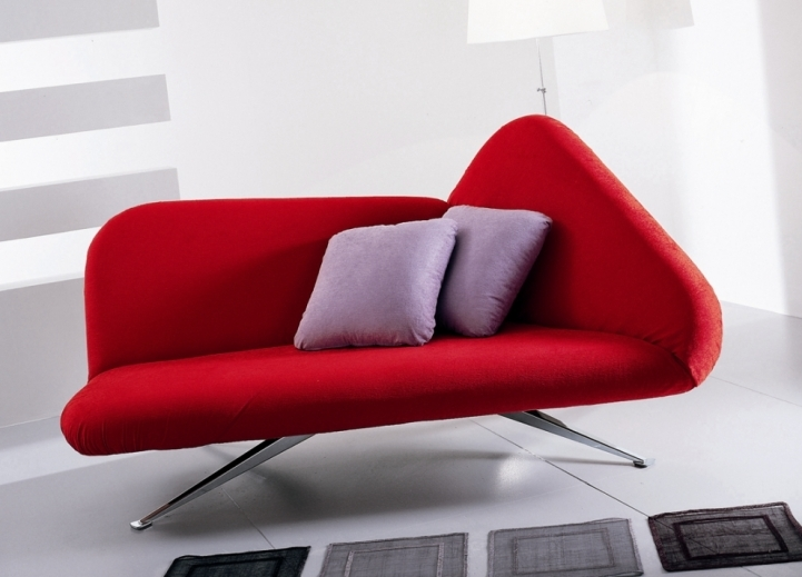 Red Sectional Sofa Bed For Small Spaces With Cosy Contemporary Designs 5982