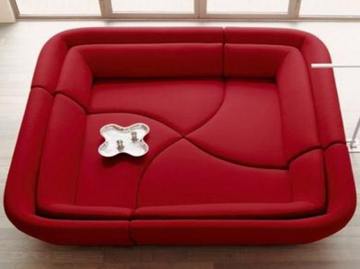 Red Sectional Sofa Bed For Small Spaces With Excellent Power Recliner Two Kinds 8898