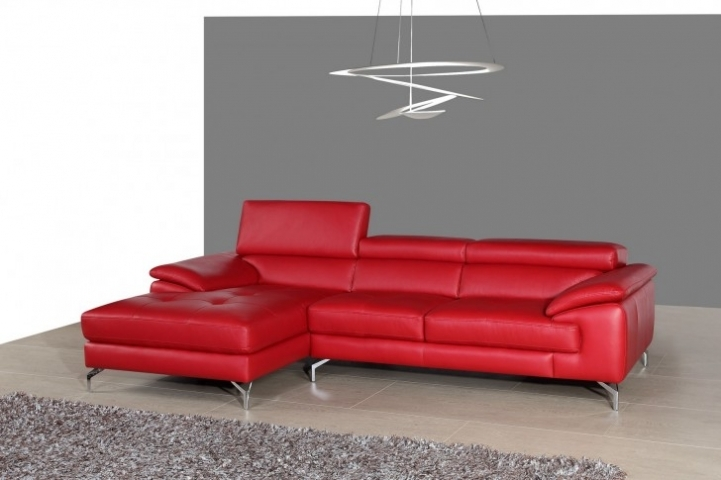 Red Sectional Sofa Bed For Small Spaces With Fantastic Solid Red Leather Italian Sectional Sofa Design With Sleeper 5396