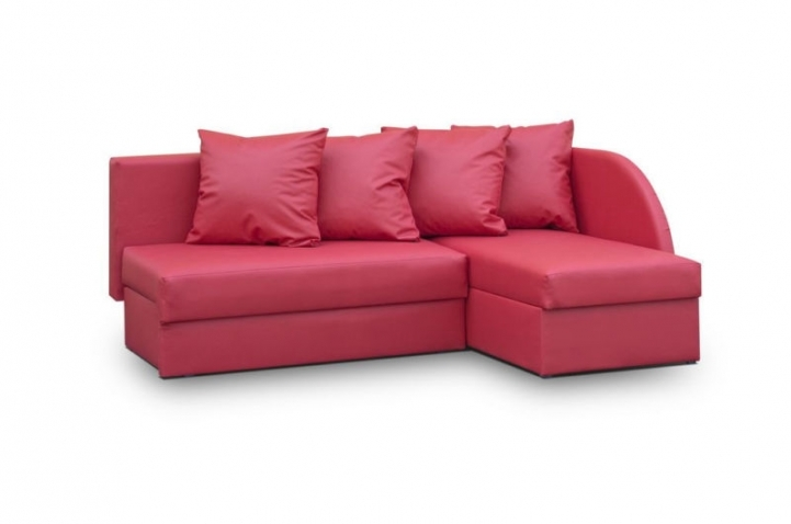 Red Sectional Sofa Bed For Small Spaces With Marvelous Red Leather Corner Sofa 5785