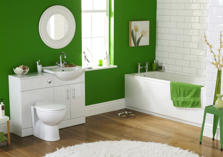 Small Bathroom Paint Colors Within Comfy Green And White Bathroom Color Schem