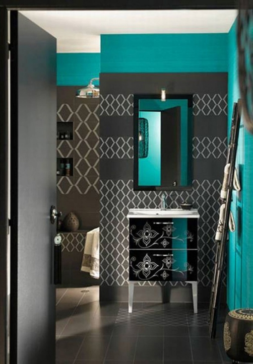 Small Bathroom Paint Colors Within Excellent Black And Green Color Ideas 8059