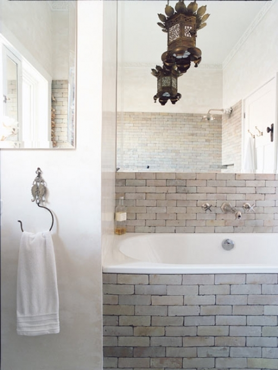 Subway Tile For Small Bathroom Remodeling Black And White Subway Tile Bathroom Ideas 4306