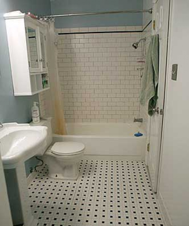 Subway tile for small bathroom remodeling ideas small Small bathroom remodel tile