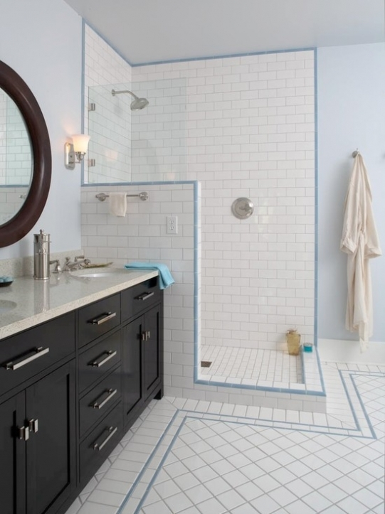 Subway Tile For Small Bathroom Remodeling White Design