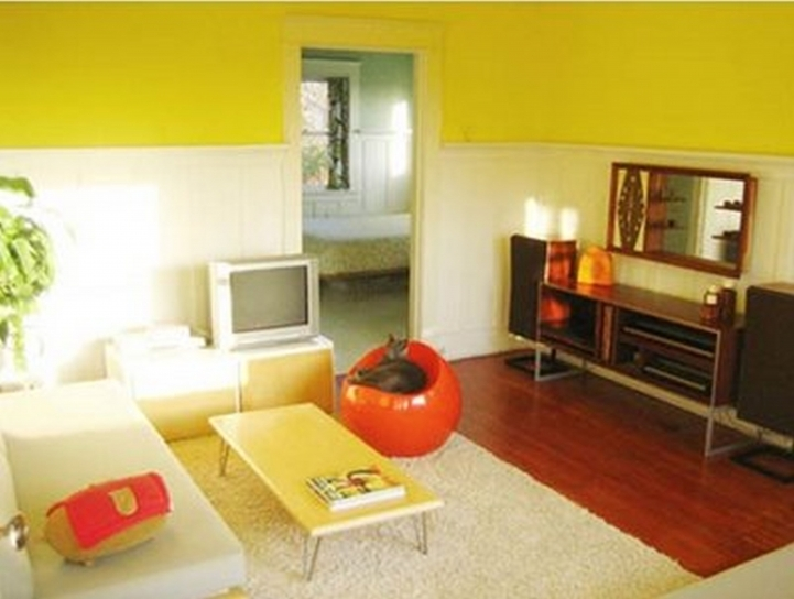 Small Studio Apartment Ideas Yellow Style Design