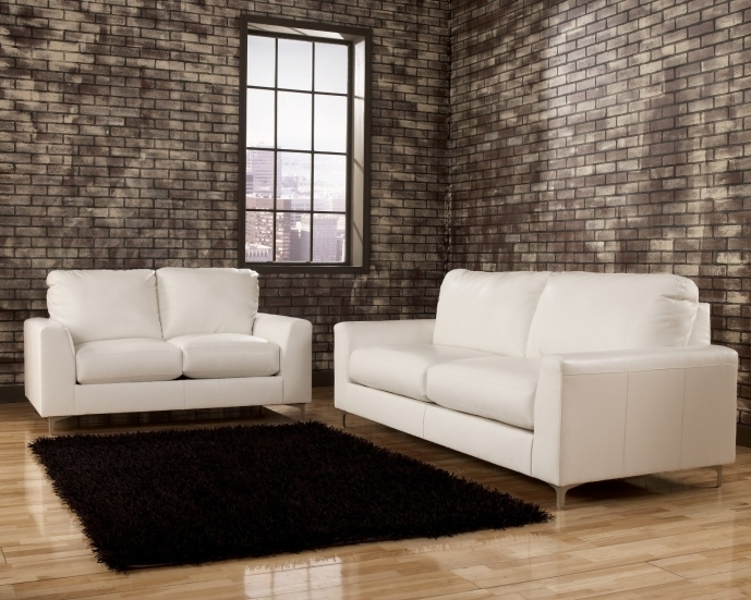 Ashley Furniture Room Ideas Sectional Sofa White Leather