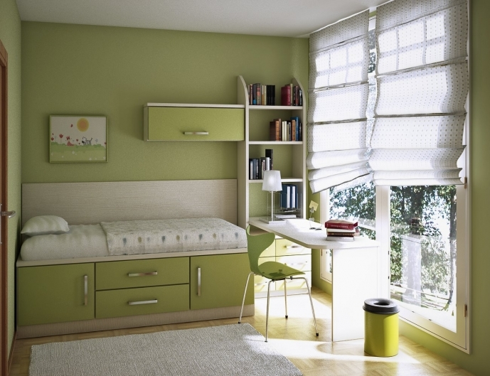 Fitted Bedroom Furniture For Small Rooms Regarding Gorgeous Green Color Schemes Small Bedroom Furniture Ideas 56