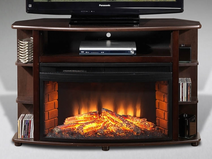 Small Corner Electric Fireplace Tv Stand Best Option For Small Rooms 63