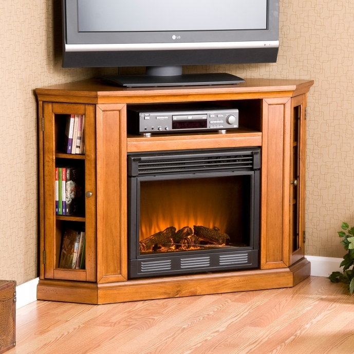 Small Corner Electric Fireplace Tv Stand Indoor Home Designs 00