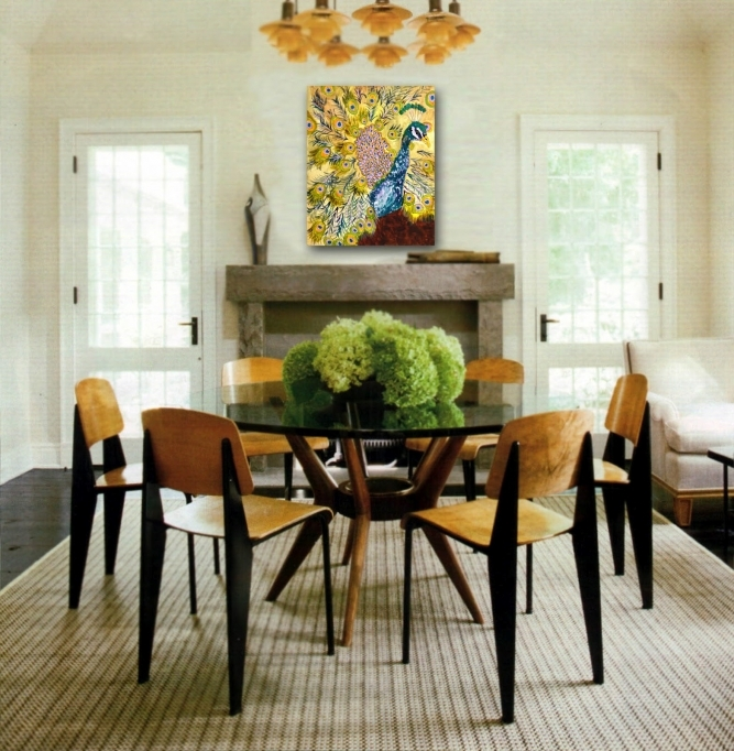 Small Dining Room Decorating Ideas With Modern Round Glass Dining Table Pic 99