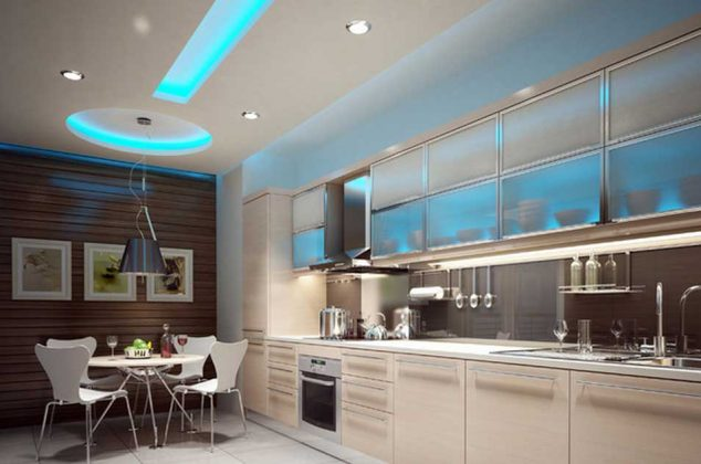 kitchen led lighting ideas ceiling lights beautiful shades of blue