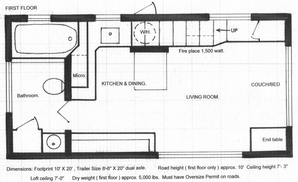 10x20 tiny house floor plans