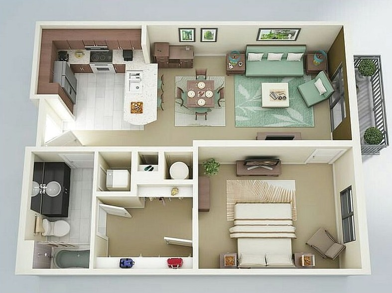 tiny house floor plans apartment