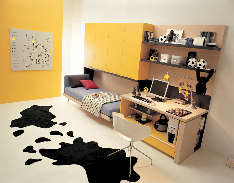 Cool Colorful Teen Room Ideas For Small Teen Room Colors Yellow