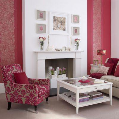 wallpaper pink red for small living room pictures 17