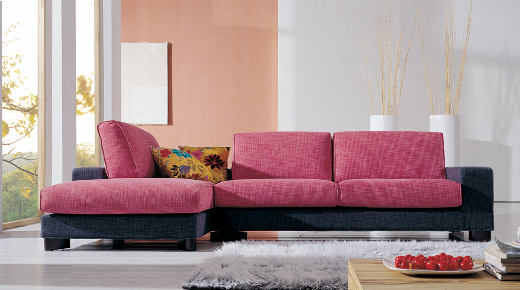 Optimize Small Room with Fabric Corner Sofas