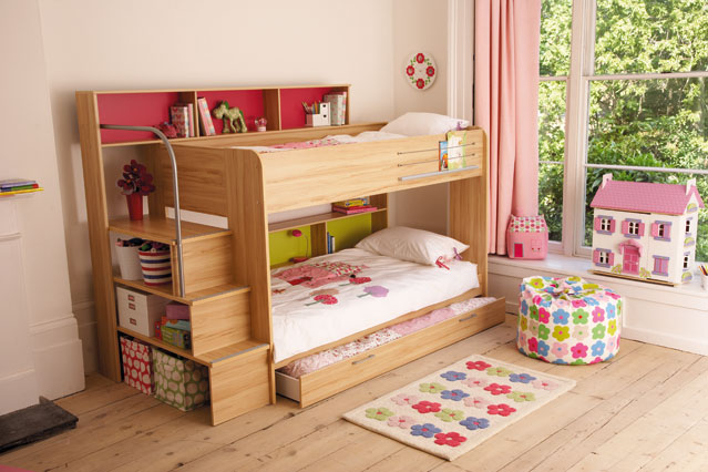 Bunk Bed Loft Bed For Small Kids Room Design Ideas Pic 06 Small Room Decorating Ideas,Where Is Princess Diana Buried Now