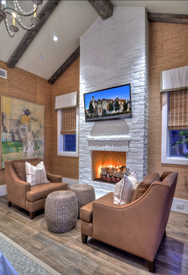 Awesome painting brick fireplace gray images 05