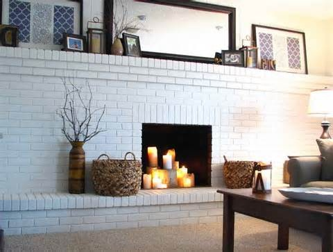 Painting Brick Fireplace Designs Ideas