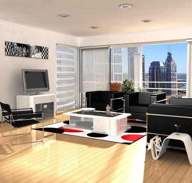 Contemporary Apartment Living Room Furniture
