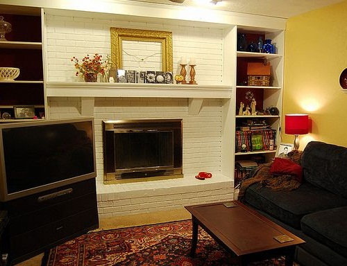 white painting a brick fireplace color ideas images 07