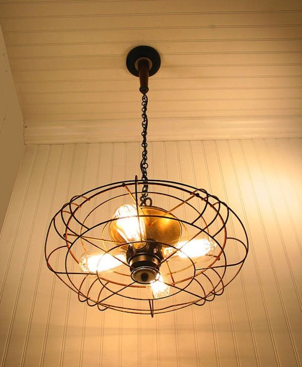 Bladeless Ceiling Fan With Light Pendant Light From Industrial Fan A Vintage And Bladeless Fan With Edison Light Small Room Decorating Ideas